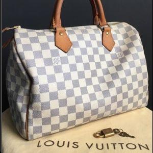 Louis Vuitton  30 Azur Speedy